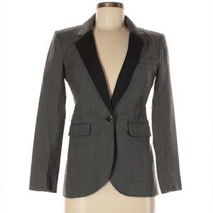 Gray and black blazer by Rachel Zoe